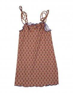 BIKINI 77 BEACHWEAR Mädchen 3-8 jahre Strandkleid Farbe Orange Größe 4