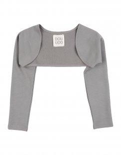 DOUUOD Mädchen 0-24 monate Wickelpullover Farbe Grau Größe 3