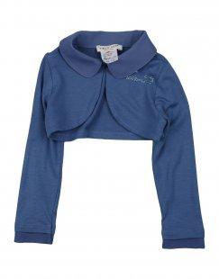 TWIN-SET Simona Barbieri Mädchen 0-24 monate Wickelpullover Farbe Blaugrau Größe 10
