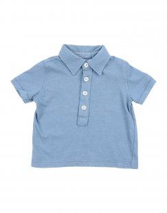 BABE & TESS Jungen 0-24 monate Poloshirt Farbe Taubenblau Größe 4