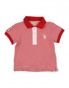 U.S.POLO ASSN. Jungen 0-24 monate Poloshirt Farbe Rot Größe 3