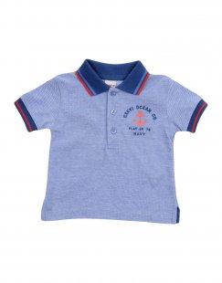 PLAY UP Jungen 0-24 monate Poloshirt Farbe Blau Größe 4