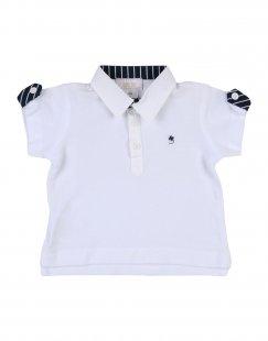 ALETTA Jungen 0-24 monate Poloshirt Farbe Weiß Größe 4