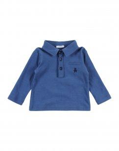 LE BEBÉ Jungen 0-24 monate Poloshirt Farbe Taubenblau Größe 4