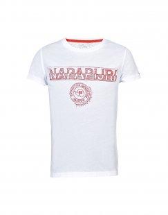 NAPAPIJRI Jungen 9-16 jahre T-shirts Farbe Weiß Größe 2