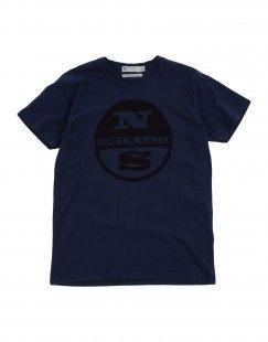 NORTH SAILS Jungen 9-16 jahre T-shirts Farbe Dunkelblau Größe 4