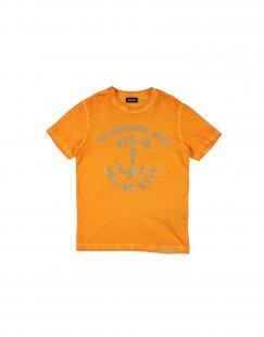 DIESEL Jungen 9-16 jahre T-shirts Farbe Orange Größe 1
