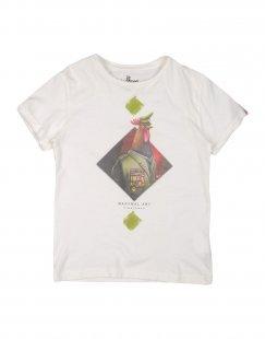 MANYMAL for MYTHS Jungen 3-8 jahre T-shirts Farbe Weiß Größe 6