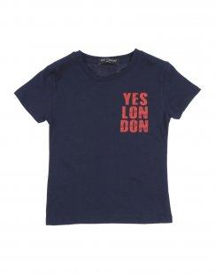 YES LONDON Jungen 3-8 jahre T-shirts Farbe Dunkelblau Größe 2