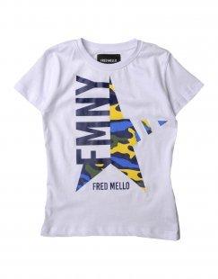 FRED MELLO Jungen 3-8 jahre T-shirts Farbe Weiß Größe 2