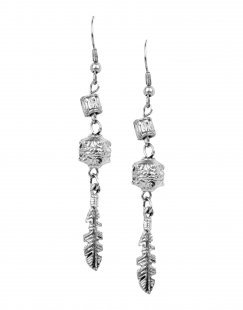 DETTAGLI Damen Ohrring Farbe Silber Größe 1