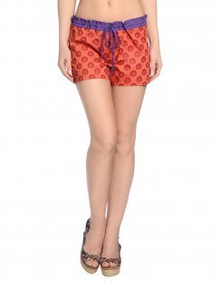 OPALINE Damen Strandhose Farbe Rot Größe 4