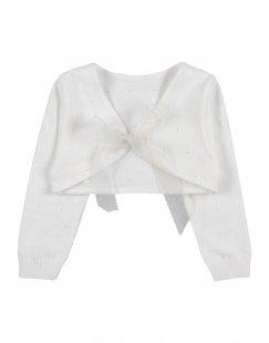BUFI Mädchen 0-24 monate Strickjacke Farbe Weiß Größe 5