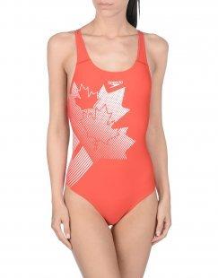 SPEEDO Damen Sportliche Bademode Farbe Rot Größe 2
