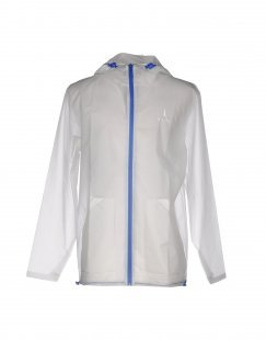 RAINS Herren Lange Jacke Farbe Weiß Größe 5