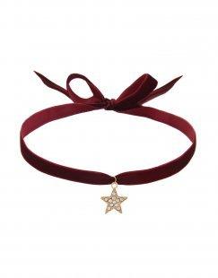TAOLEI Damen Halskette Farbe Bordeaux Größe 1