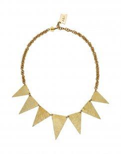 HIRO + WOLF Damen Halskette Farbe Gold Größe 1