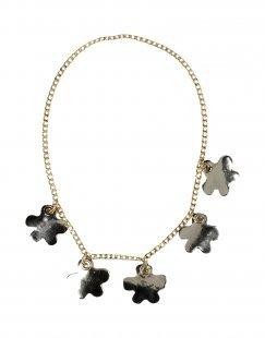 LUCILLE Damen Halskette Farbe Platin Größe 1