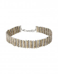GEORGE J. LOVE Damen Halskette Farbe Silber Größe 1