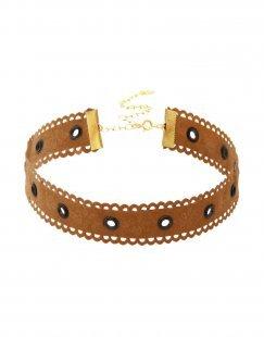 TAOLEI Damen Halskette Farbe Braun Größe 1