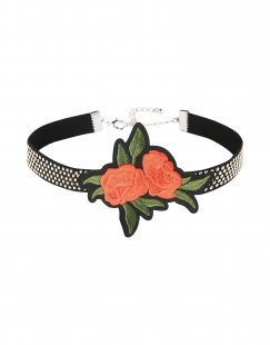 GEORGE J. LOVE Damen Halskette Farbe Schwarz Größe 1