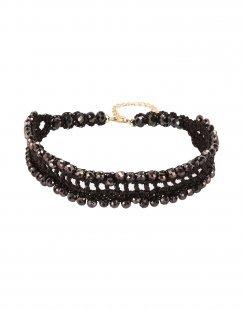 GEORGE J. LOVE Damen Halskette Farbe Dunkelbraun Größe 1