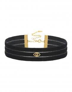 TAOLEI Damen Halskette Farbe Schwarz Größe 1