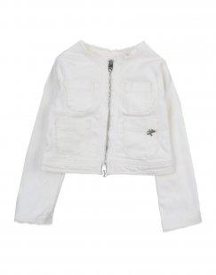 L:Ú L:Ú Mädchen 0-24 monate Jeansjacke/-mantel Farbe Weiß Größe 10