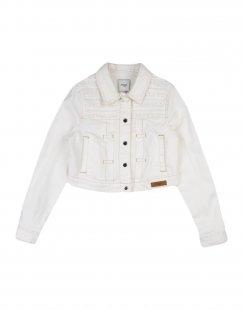 MAYORAL Mädchen 0-24 monate Jeansjacke/-mantel Farbe Elfenbein Größe 6