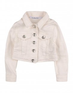 L:Ú L:Ú Mädchen 0-24 monate Jeansjacke/-mantel Farbe Elfenbein Größe 10