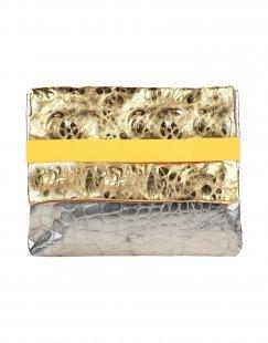 EBARRITO Damen Aktentaschen Farbe Gold Größe 1