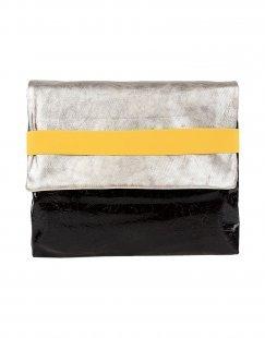 EBARRITO Damen Aktentaschen Farbe Silber Größe 1