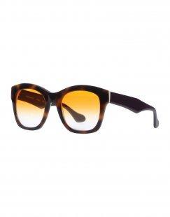 LEO Damen Sonnenbrille Farbe Dunkelbraun Größe 1