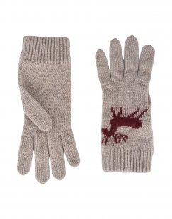 8 Damen Handschuhe Farbe Taubengrau Größe 1