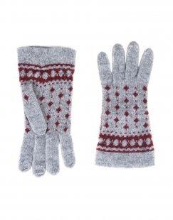 8 Damen Handschuhe Farbe Bordeaux Größe 1
