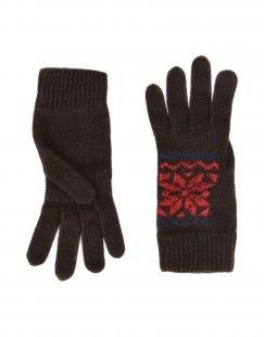 8 Damen Handschuhe Farbe Dunkelbraun Größe 1
