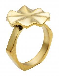 HIRO + WOLF Damen Ring Farbe Gold Größe 6