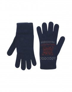 8 Herren Handschuhe Farbe Dunkelblau Größe 4