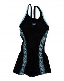 SPEEDO Mädchen 3-8 jahre Badeanzug Farbe Schwarz Größe 2