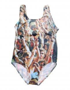 POPUPSHOP Mädchen 3-8 jahre Badeanzug Farbe Kamel Größe 1