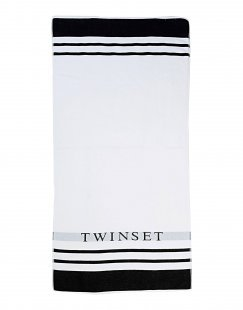 TWIN-SET Simona Barbieri Damen Badetuch Farbe Weiß Größe 1