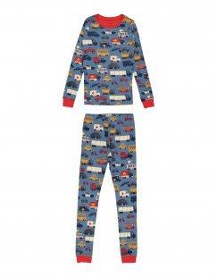 HATLEY Jungen 9-16 jahre Pyjama Farbe Taubenblau Größe 2