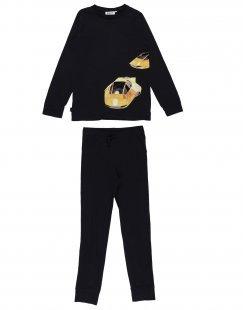 MOLO Jungen 9-16 jahre Pyjama Farbe Schwarz Größe 1