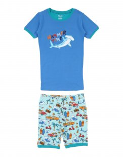 HATLEY Jungen 9-16 jahre Pyjama Farbe Blau Größe 2