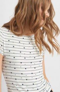 T-Shirt mit Sternen-und Streifenmuster