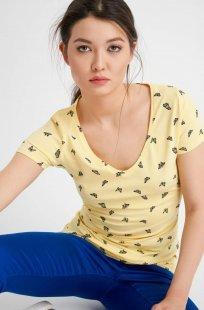 T-Shirt mit Schmetterling-Print