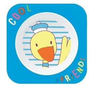Rotho Babydesign - Esslernschale Cool Friends, blau, Ente