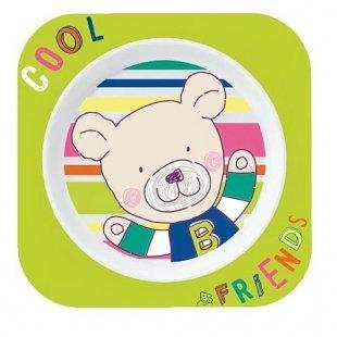 Rotho Babydesign - Esslernteller Cool Friends, apfelgrün, Bär