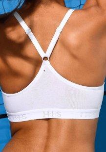 H.I.S Sport-BH in Bustier Schnittform aus Baumwolle für Sportarten leichter Belastbarkeit
