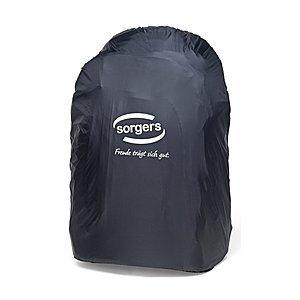 Sorgers Regenhülle schwarz, mit reflektierendem Logo